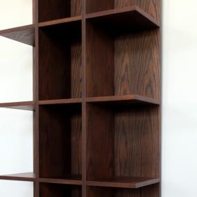 本棚 ブックシェルフ チェスト 収納 木目 オーク 幅75cm 高さ180cm LIBRO(リブロ)ダークブラウン